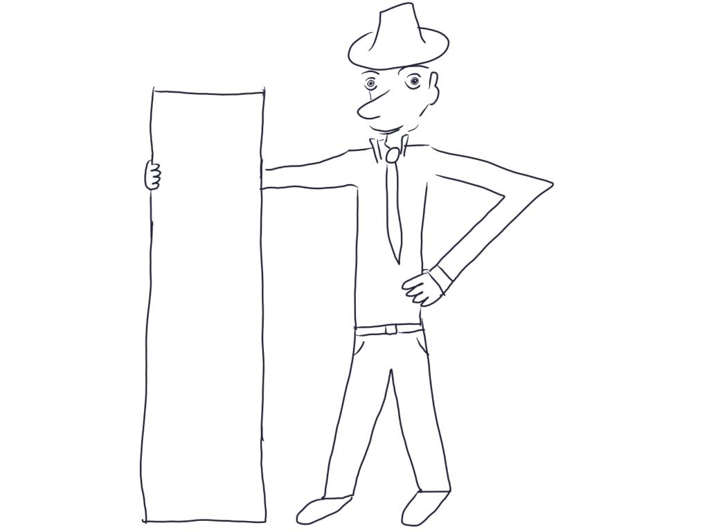 Mirror Salesman Doodle