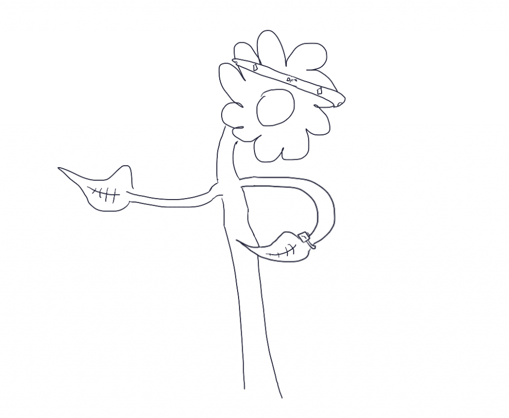 Digital Flower Checking Watch with Headband Doodle